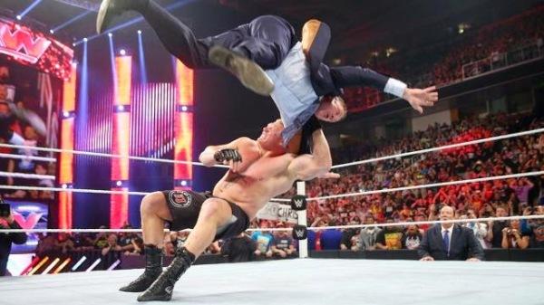Brock Lesnar v Michael Cole